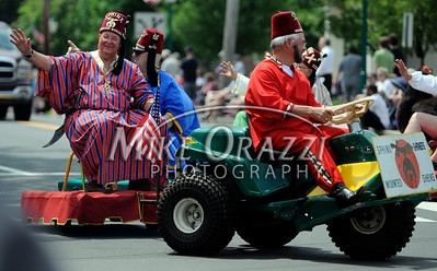 5/28/2011 Mike Orazzi | Staff Members of the SphinX Shriners during the Newington Memorial Day parade on Saturday.