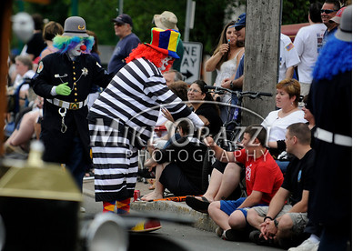 5/28/2011 Mike Orazzi | Staff Clowns during the Newington Memorial Day parade on Saturday.