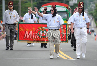 5/28/2011 Mike Orazzi | Staff Members of the SphinX during the Newington Memorial Day parade on Saturday.