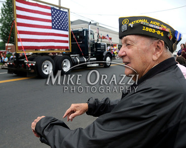 5/28/2011 Mike Orazzi | Staff Edward Skehan, a World War Two combat engineer Army veteran, during the Newington Memorial Day parade on Saturday.