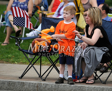 5/28/2011 Mike Orazzi | Staff Lorranie Gieras and her son Cole,3, during the Newington Memorial Day parade on Saturday.