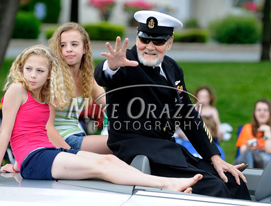 5/28/2011 Mike Orazzi | Staff Oren Hyde, a World War Two submarine veteran, during the Newington Memorial Day parade on Saturday.