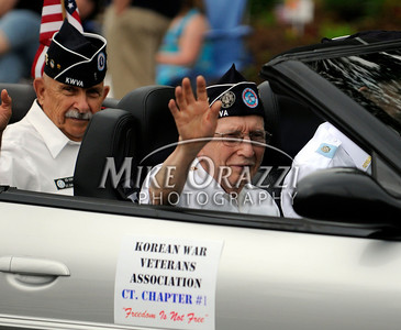 5/28/2011 Mike Orazzi | Staff Korean War veterans during the Newington Memorial Day parade on Saturday.