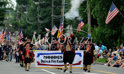 5/28/2011 Mike Orazzi | Staff Members of the Moodus Drum & Fife Corps during the Newington Memorial Day parade on Saturday.