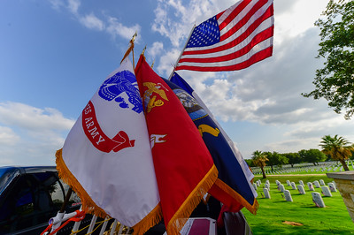 Hundreds of volunteers and veterans, including members of Texas A&M San Antonio Military Affairs along with Project Phoenix, converge on Fort Sam Houston National Cemetery to honor the fallen with U.S. Flags placed at their gravesites May 26, 2017. Full image gallery here: http://smu.gs/2s6TCt6