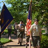 Boy Scout Troop 323 from St. Peter Church in Kirkwood presented the colors.  They were also a great help in setting up and taking down the chairs and equipment used during the ceremony.  They are a great troop.