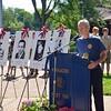 Bart Karoll, Vietnam Veteran USN, sang the National Anthem.