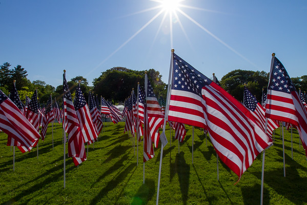Memorial Day Flags at Hoopes Park