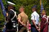 memorial service color guard