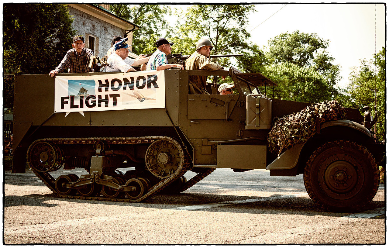 Half track in Memorial Day parade on East High Street in Mount Vernon, Ohio. Date: May 28, 2012