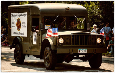 Military ambulance in Memorial Day parade on East High Street in Mount Vernon, Ohio. Date: May 28, 2012