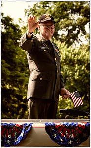 One of the veterans in Memorial Day parade on East High Street in Mount Vernon, Ohio. Date: May 28, 2012
