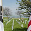 Record-Eagle/Keith King<br /> Markers for Michigan servicemen and servicewomen who have been killed in Iraq and Afghanistan are observed Monday, May 30, 2011 at the Open Space. The markers were placed at the Open Space by Veterans for Peace Chapter 50.