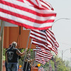 Record-Eagle/Keith King<br /> Flags held as part of the Patriots Flag Line Monday, May 30, 2011 along Grandview Parkway in Traverse City.