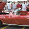Mary Grzebieniak/NEWS<br /> Terry DeSalvo (left) and his son, Chris of New Castle admire this 1964 Corvette which it took Mel Harris (right) of East Liverpool, Ohio four years to restore.