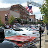 Mary Grzebieniak/NEWS<br /> Old Glory waved above streets which were lined with cars of all colors and descriptions Sunday.