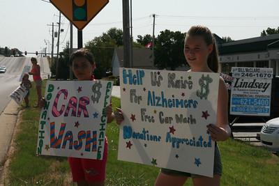Memory Walk Car Wash Fundraiser 2011