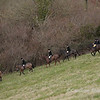 Mendip Farmers Hunt from Meet at Hunter' Lodge December 2007