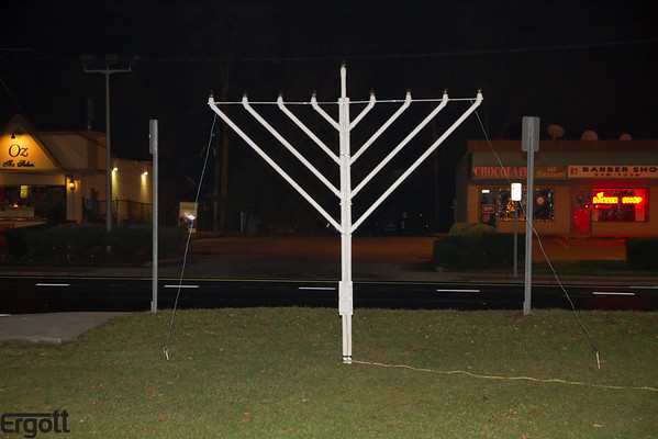 Menorah Lighting in Oakdale 2012