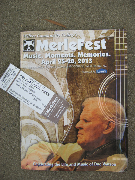 The 26th Merlefest and the first after the passing of Doc Watson. (Photo by Mike)