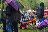 208  Beautiful Merlefest Fans under coat of many colors_