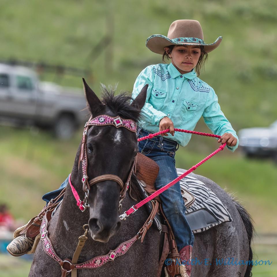 Young barrel rider