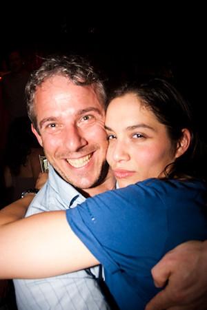 Deborah and I at a Metz party in Rotterdam, May 2009