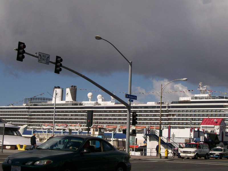 Arriving to board the ms Oosterdam