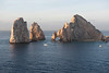 El Arco de Cabo San Lucas, or Lands End, Cabo San Lucas is a distinctive rock formation at the southern tip of Cabo San Lucas, which is itself the extreme southern end of Mexico's Baja California Peninsula. The arch is locally known as El Arco (22°52.547′N 109°50.666′W) in the town of Cabo San Lucas. It is here that the Pacific Ocean meets the Sea of Cortez.