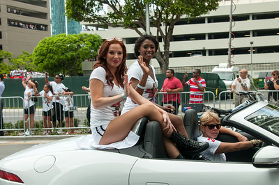 Some of the Miami Heat Dancers