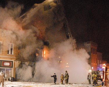 Michael & Dowd Fire in Downtown Vinton, Iowa, Feb. 8, 2018