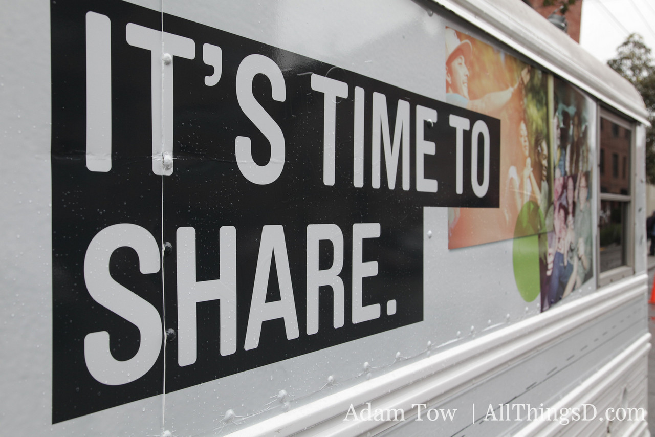 """It's Time to Share"" today at the Microsoft event in San Francisco."