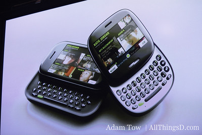 Kin 1 and Kin 2: One is a candybar with a querty board, the other is a smaller, round device with a slide keyboard.