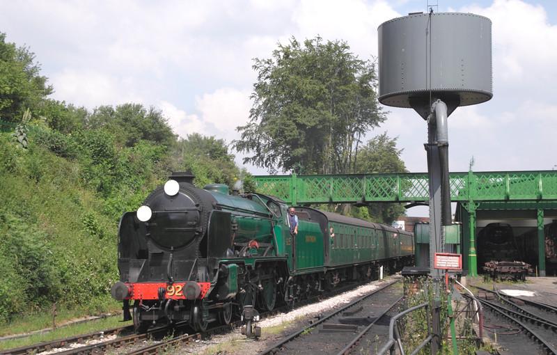 Southern Schools Class steam locomotive at Mid Hants Railway