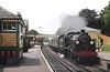 SR U Class Mogul  at Mid Hants preserved steam railway