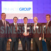 Sponsor presenters Jim LaFontaine of UMB Bank, Brandt Hamby of ACG Dallas/Fort Worth, with Middle Market honoree Freddy Vaca of Pinnacle Group and Ken Travis of Travis Wolff and Steve Fox of Polsinelli.