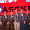 Sponsor presenters Brandt Hamby of ACG Dallas/Fort Worth, Ken Travis of Travis Wolff, with Middle Market honoree Scott Wheeler of Daseke, and Jim LaFontaine of UMB Bank and Steve Fox of Polsinelli.