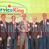 Sponsor presenters Steve Fox of Polsinelli, Brandt Hamby of ACG Dallas/Fort Worth, with Middle Market honoree Steve Abraham of Service King Collision Repair with Ken Travis of Travis Wolff and Jim LaFontaine of UMB Bank.