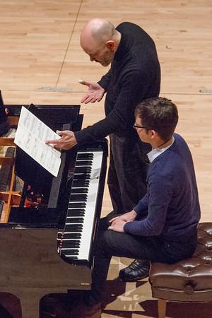 Piano master class student.
