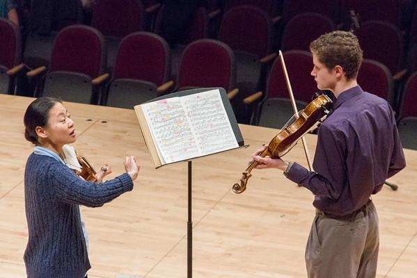 Violin master class student.