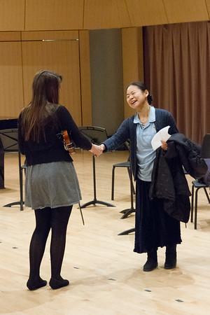 Violin master class begins.