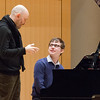 Piano master class student.