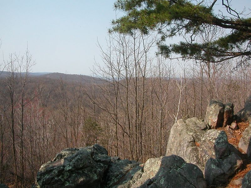 Scenic beauty from Buzzards Rock.  Where are the buzzards?