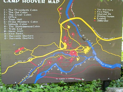 Map of Camp Hoover.