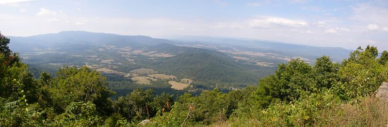 Panoramic view from Dickey Hill