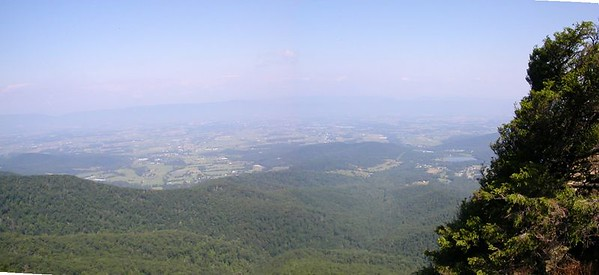 Panorama view to the West from Stony Man.