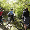 "A few of the ladies converse before hitting the trail during the October 2005 clinic.  While the first clinic had only 9 participants, the 2009 clinic reached a maximum of 50 riders and more than 90 in 2010, with participants and volunteers arriving from Indiana and several surrounding states.  Some of our farthest travelling volunteers came from Florida and even Washington state!  The Midwest Women's Mountain Bike Clinic is truly becoming a ""Midwest"" event!"