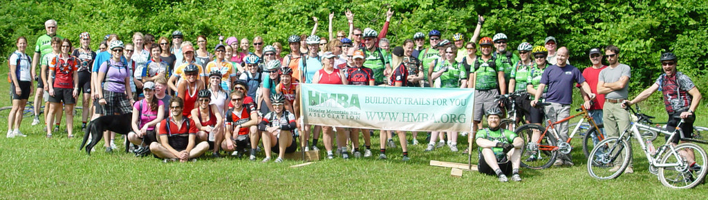 The Midwest Women's Mountain Bike Clinic ~ Brown County State Park, Nashville, Indiana 2009 Group Photo  See how far we've come...