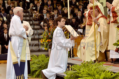 Mike Vogt is presented to Bishop Malooly during his Ordination in the Gym of Salesianum School, Wilmington, Del., Friday, January 27, 2012. Mike Vogt ask Bishop Malooly for permission to have his Ordination in the gym of Salesianum School where he is a teacher. photo/Don Blake Photography.com