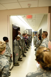 433d Medical Group Commanders toured the new Wilford Hall Medical Center on 14 Oct 2016 at JBSA Lackland AFB. Ms. Jo Pinto, Facilities Director, guided the tour and explained the engineering and design concepts of this beautiful facility.